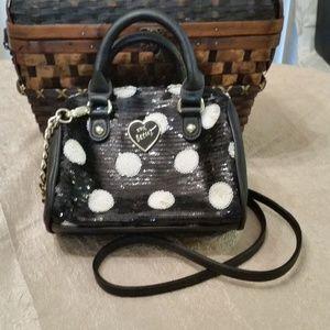 Betsey Johnson Mini Barrel Handbag